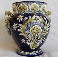 Très grand cache-pot / Vase en BARBOTINE Majolica (de LILLE) Superbe