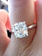 0.90 Ct. Cushion Cut Diamond Solitaire Engagement Ring H,VVS2 EGL White Gold 14K