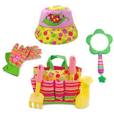 Blossom Bright Kids Outdoor Gardening Set with Tote and Hat by Melissa and Doug