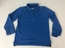 armani junior boys Polo Collared Top Long Sleeved Age 5 Years Size 112 Cm