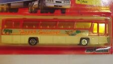 """Majorette Airport Bus """"Happy Holidays"""" # 373 Action Moving Parts Made In France"""