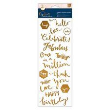 Docrafts Cobre Sentiment adhesivos-para siempre Amigos Opulent para tarjetas &