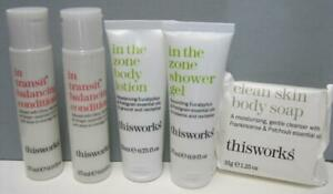 IN THE ZONE TRANSIT 2 Conditioner Shower Gel Lotion SOAP Travel SAMPLE SIZE SET