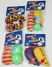 Lot of 4 Packs of Cat Toys with Catnip - Mice & Balls - New in Packages