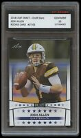 JOSH ALLEN 2018 LEAF DRAFT STARS 1ST GRADED 10 ROOKIE CARD RC NFL BUFFALO BILLS