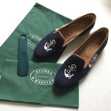 """Women's """"Anchorage"""" NEEDLEPOINT Pantofole da Stubbs And Wootton-Taglia UK 8.5"""