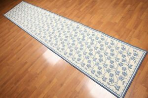 3' x 10' Nourison Runner New Zealand Wool French design Oriental Area Rug Ivory