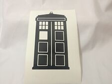 Dr Who Police Box Tardis Vinyl Decal Sticker Car Window Laptop American Made