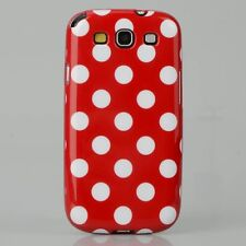 For Samsung Galaxy S3 - Polka Dot Case / Cover - Red & White