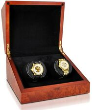 Orbita Sparta 2 Deluxe Watch Winder Rotorwind 5 year Battery Burl Wood W07013