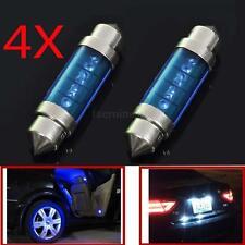 4Pcs 3 LED Light Blue 39mm Car Auto Interior Festoon Dome Lamp Bulb Light New