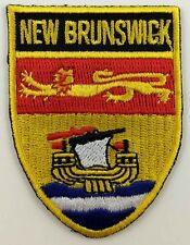 New Brunswick Flag Shield Crest Patch Embroidered Iron On Sew On Canadian