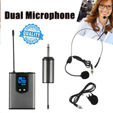 Wireless Microphone Lavalier Lapel Mic Mini Receiver Transmitter Headset Set UK
