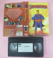 VHS film SUPERMAN animazione CVC SELP8030 telescopio magnetico (F153) no dvd