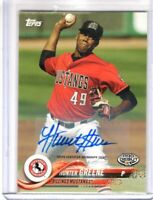 2018 Topps Pro Debut Auto HUNTER GREENE #25 Reds RC AUTOGRAPH Rookie SP