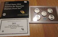 2011 Proof Quarters  National park America the Beautiful U.S. Mint Box and COA