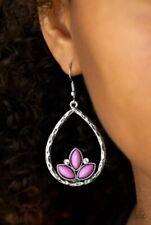 Purple Earrings Nwt Paparazzi Lotus Laguna