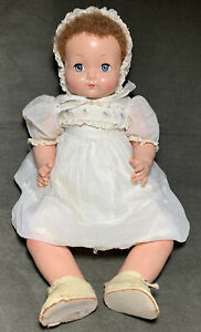 """Vintage Effanbee Sweetie Pie Large Composition/Cloth Doll 23"""" Cute"""