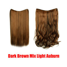 4 Clips Hair Extension Synthetic 1PC Curly 3/4 Full Head Long One Hairpiece 150g