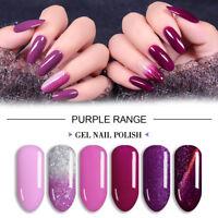 Lavender Violets 8ml Purple Range UV LED Soak Off Gel Nail Polish Color of 2018