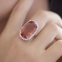luxury color change diaspore 925 sterling silver cocktail ring for women wedding
