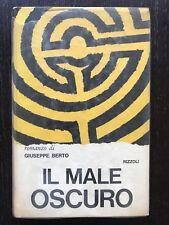 Il Male Oscuro #romanzo di Giuseppe Berto Rizzoli terza edizione