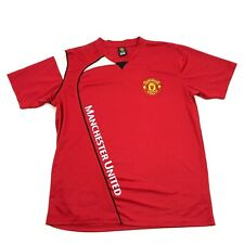 Manchester United Soccer Jersey Red Dry Fit Shirt Size S Small Men Sewn On Patch