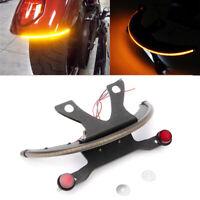 LED Fender Turn Signal Kit w/Tag Light & Bracket - Smoke Lens For Victory Vages
