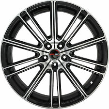4 GWG Wheels 22 inch Black Machined FLOW Rims fits MAZDA CX-9 2007 - 2018