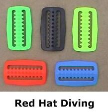 tri glide weight belt retainer keeper clip buckle scuba Red Hat Diving 5 colours