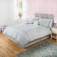 BNIP George Home Cotton Rich Fantasy Lace SINGLE Duvet Cover + 1 Pillowcase