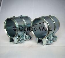 2 Stück  Auspuffrohrverbinder / Doppelschelle 50 x 80 mm für BMW,FIAT,RENAULT