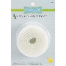 """Babyville Boutique EZ Adjust Tape 1½"""" x 1yd - White"""