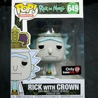 Funko Pop! Animation Rick and Morty Rick with Crown 649 Gamestop Exclusive NEW