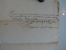 Manuscrit signé, 1632, Officiers de la porte du Roi, Louis XIII