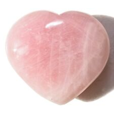 [1] Himalayan Rose Quartz Crystal Puffy Heart / Palm Stone Reiki ZENERGY GEMS™