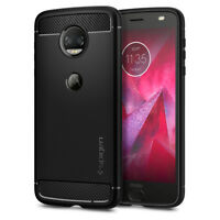 Motorola Moto Z2 Force Edition Spigen® [Rugged Armor] Protective TPU Cover Case