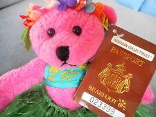 Hawaiian Collectibles Bear Passport Bearfoot Lokelani Maui w/COA *FOR PET RESCUE