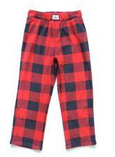 GapKids Boy's Plaid Sleep Pants, Red/Black, Size: 6