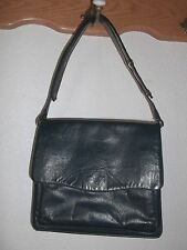 Vintage Authentic Navy Blue Leather Made in Italy Handbag Purse