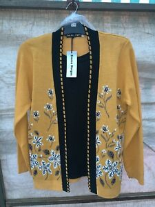 BRAND NEW Women's Twinset Cardigan Floral Pattern Long Sleeve Made in UK SZ S-XL