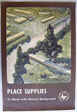 1940's WWII Military Poster: Camouflage Blinds the Enemy. Place Supplies...