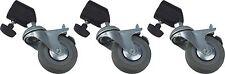 GTX Grip 3 Wheel Set w/ Brakes & Adapter Photo Studio Light Stand Tripod Legs