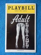 Adult Entertainment - Variety Arts Playbill - January 2002 - Danny Aiello