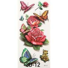 3D tatouage temporaire 19x9cm étanche NEUF COLLECTION (3d-12)
