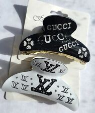 * 2 Piece Bundle * Romany Design Diamond hair claw clip White & Black Brand New
