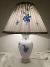 Große Lampe Herend Apponyi Blau 6739, Höhe 72 cm, funktionstüchtig, Ersatzteile