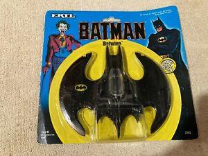 Vintage 1989 ERTL Die Cast Metal Batman Batwing NIP #2495 1:43