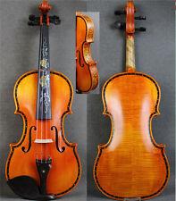 Hand Made 4/4 Violin w/ Beautiful Shell Inlay Purfling&Rare Drawing Ribs
