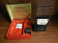 Vintage Omegas Transistor Radio 1960's w/box and accessories Blue and Gold